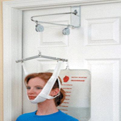 New Over Door Cervical Neck & Back Traction Head Brace Kit Set ()