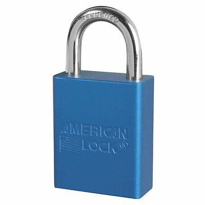 American Lock Keyed Different Anodized Aluminum Safety Padlock A1105blu Blue