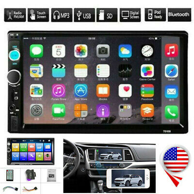 7 Inch Double 2 DIN Car MP5 Player Touch Screen Stereo Radio Mirror Link TF USB