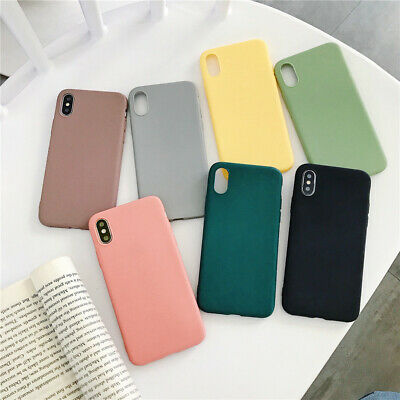 For iPhone11 Pro Max XS XR 8 7 6+Silicone Ultra Slim Matte Soft Phone Case Cover