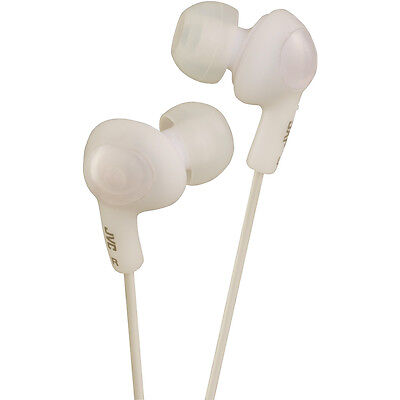- JVC HAFX5W Gummy Plus Inner-Ear Wired Headphones in White
