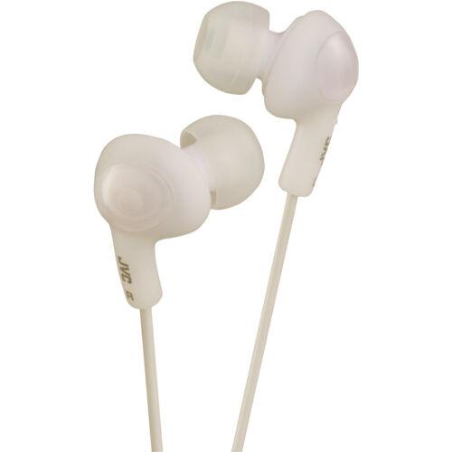 JVC HAFX5W Gummy Plus Inner-Ear Wired Headphones in White