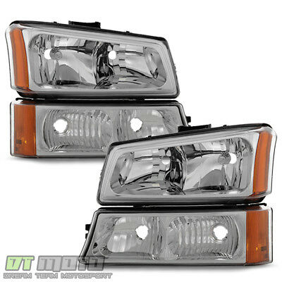 2003-2006 Chevy Silverado 1500 2500 Avalanche Headlights+Bumper Signal Lights