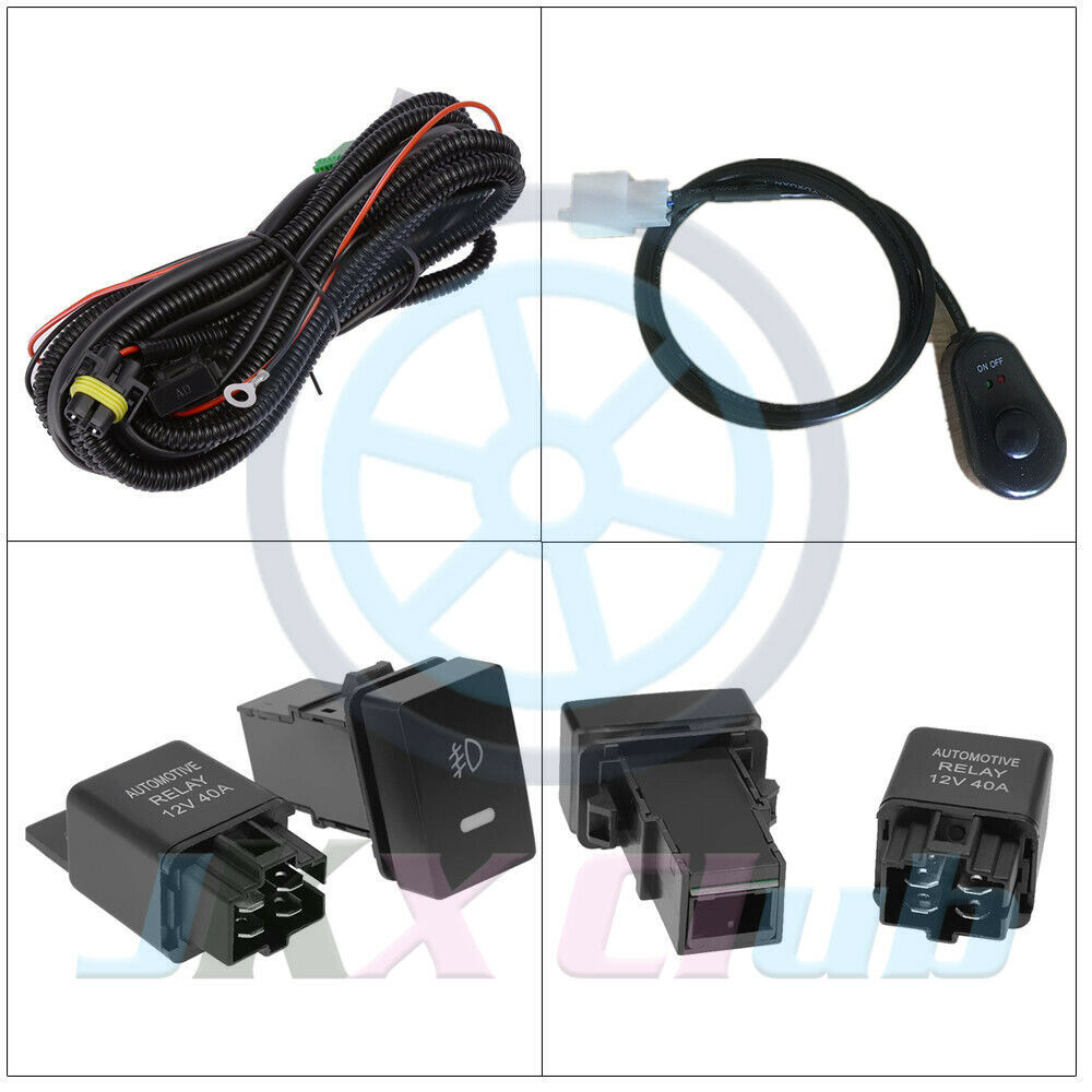 Clear Fog Light Lamps Switch Wiring Harness Kit For Ford