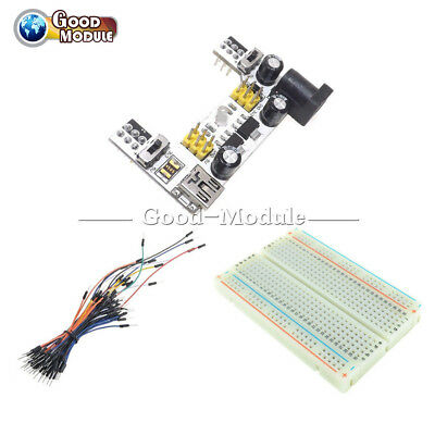 Mb102 Mini Usb Power Supply Solderless Mini Breadboard 40065pcs Jump Cable Wire