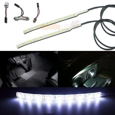 2pc Universal White 9-SMD LED Strip For Interior Footwell Glove Box Trunk Lights - Gloves With Led Lights