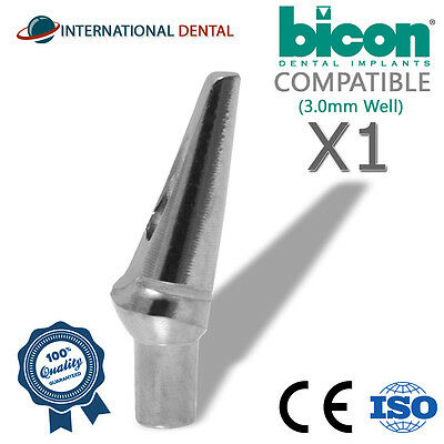 Bicon Compatible 15 Non-shouldered Abutment 3.0mm Well Dental Implant