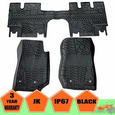 Fit Jeep Wrangler JK 04-17 18 4 DOOR CUSTOM FLOOR MATS FITS SAHARA RUBICON - 04 Jeep Wrangler Floor Mats