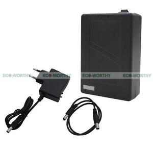 12V DC 6800mAh Super Rechargeable Li-ion Battery Pack+AC Charger for CCTV Camera