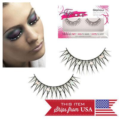 Star Costume Fake Eyelashes Makeup Thicker Longer False Eye Lashes +Glue USA