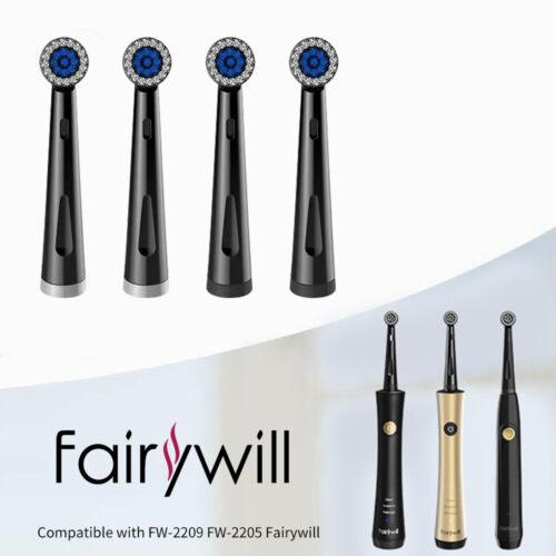 4x Fairywill Rotating Electric Toothbrush Replacement Heads