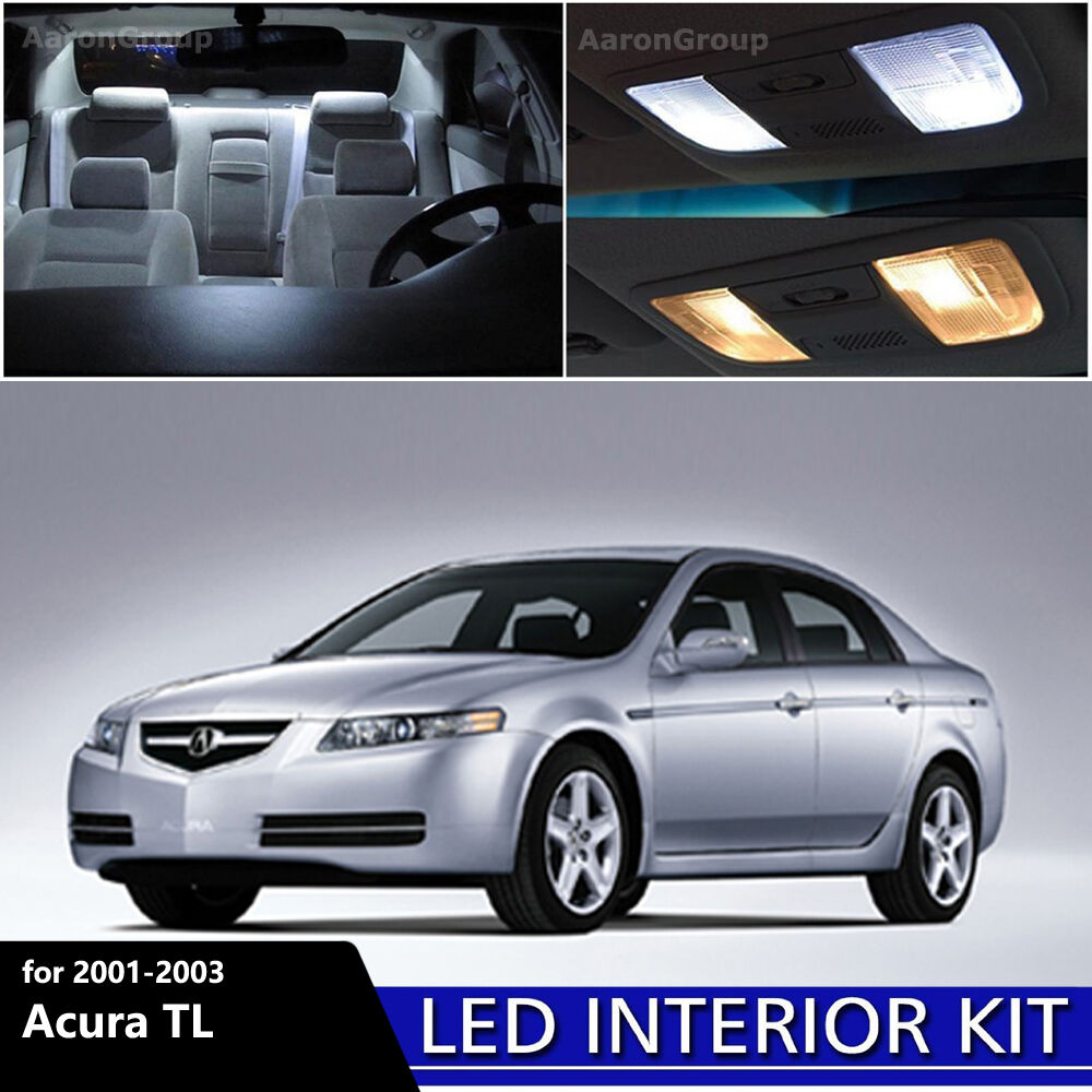 6PCS White Interior LED Light Package for 2001 2002 2003 Acura TL