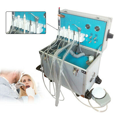 Dental Portable Delivery Unit Rolling Case Led Curing Light Ultrasonic Scaler 2h