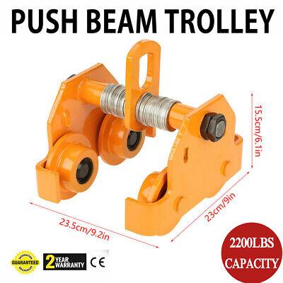 1 Ton Steel I-beam Push Beam Track Roller Trolley Beam Girder Precision Tool