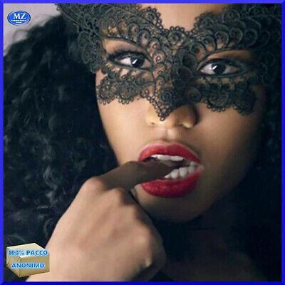 Maschera mascherina sexy da donna pizzo giochi erotici benda carnevale veneziana