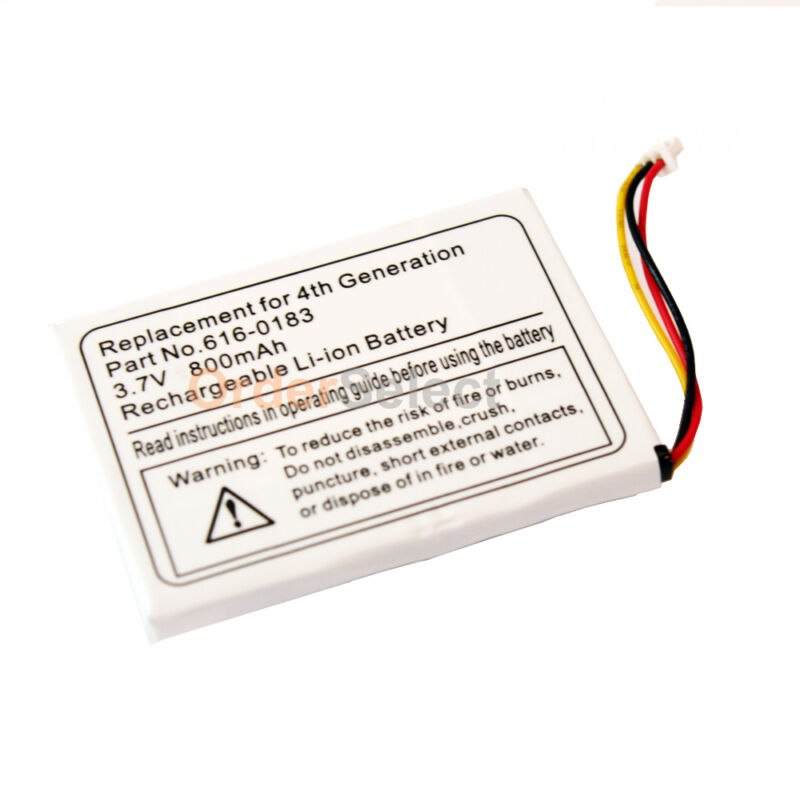 Replacement Battery for Apple iPod Photo MP3 4th Gen 20GB 30 40GB 60GB 300+SOLD