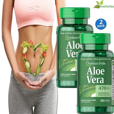 #1 BEST ALOE VERA 470mg DIGESTION STOMACH SOOTHING DIGESTIVE HEALTH 200