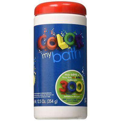 Colour My Bath 300 Tablets Color Kids Bath Accessories