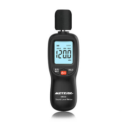 Meterk 30-130dba Lcd Digital Sound Level Meter Decibel Monitoring Tester V1t7