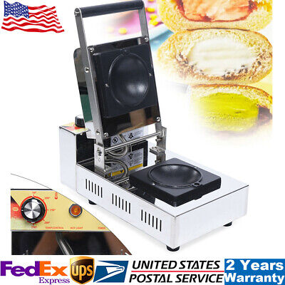 1000w 110v Commercial Panini Press Toaster Electric Sandwich Maker Machine Usa