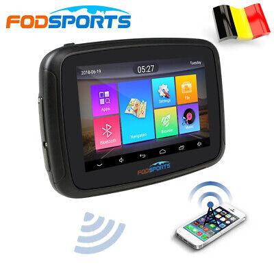 "5"" Auto GPS SAT NAV Android 6.0 Bluetooth Motociclo Navigazione Carta Geografica"