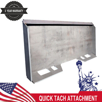 14 Skid Steer Mount Plate Thick Steel Tractors Bucket Quick Attach Plate