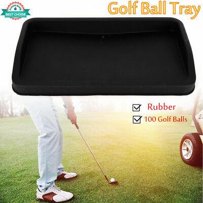 Rubber Golf Ball Tray (Large~Can Hold 100 Golf Balls) 57*32cm Christmas Gifts US ()