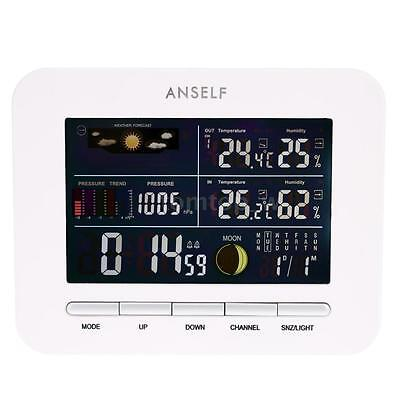 Wireless Weather Station Digital Thermometer Hygrometer Alarm Clock Home B3f5