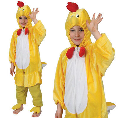 CHILDS CHICKEN COSTUME FARM ANIMAL FANCY DRESS EASTER COSTUME BOYS GIRLS OUTFIT - Kids Chicken Outfit
