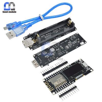Esp32esp8266 Esp-12f 0.96 Oled Wifi Cp2102 Board 18650 Battery Shield Ap Sta