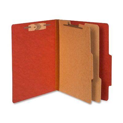 New Acco USA 15036 Pressboard 25 Pt. Classification Folder Red 10/box