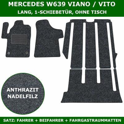 Fahrgastraum Mercedes W447 V-klasse Lang 1-Schiebetür mit Tisch Grau