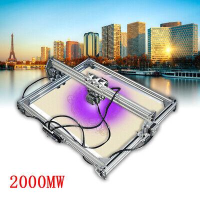 5065cm 2000mw Cnc Laser Engraving Machine 2axis Dc 12v Diy Engraver Desktop
