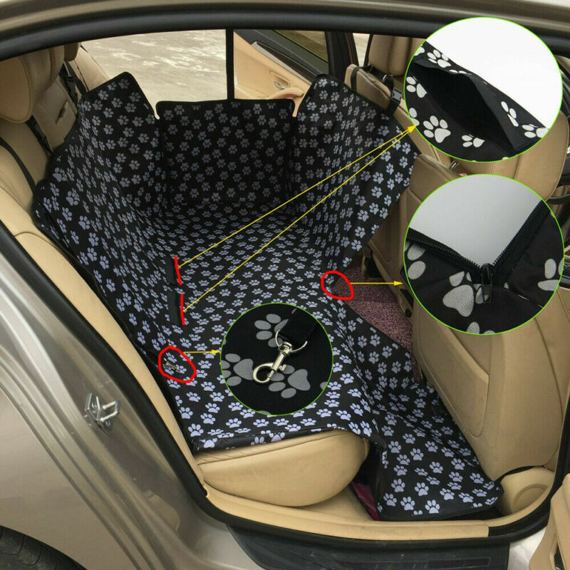 Pet Dog Car Seat Mat Cover Travel Hammock Waterproof Vehicle Back Seat Protector