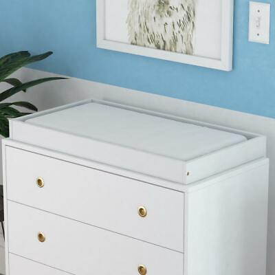 Novogratz Harper White Baby Changing Table Dresser Topper