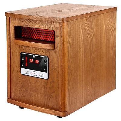 Electric Room Heater Quartz Infrared Remote Thermostat Floor