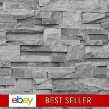 Photographic Slate Effect Wallpaper Charcoal / Grey ILW004