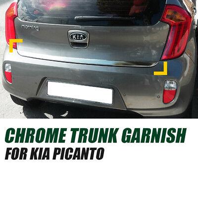 Garnish Molding Cover Chrome Rear Trunk Trim D789 for KIA 2011 - 2018 Picanto