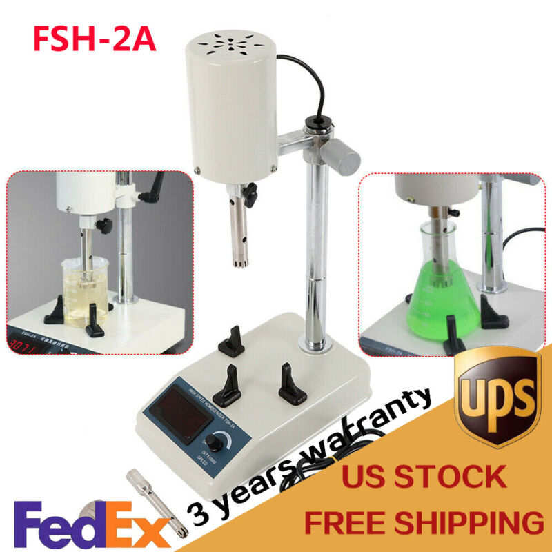 Hot Lab Mixer High Speed Dispersion FSH-2A Homogenizer 1000ml 22000rp 185W 110V
