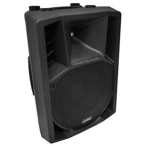 New - PYLE 1400 WATT POWERED FULL RANGE DJ SPEAKERS COMPLETE WITH MICROPHONE AND CABLE