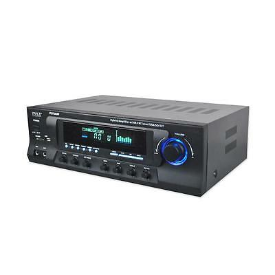 Pyle PT272AUBT 300 Watt Stereo Amplifier Receiver USB/SD, AM-FM Tuner, Bluetooth