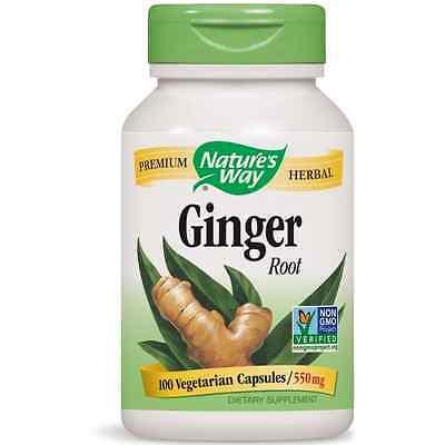 Nature's Way Ginger Root Capsules, 550 mg 100 ea