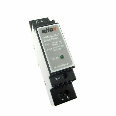 elfex Hutschienen-Netzteil DIN Rail 10W, 24-28V DC einstellbar, EFX010-GP24V