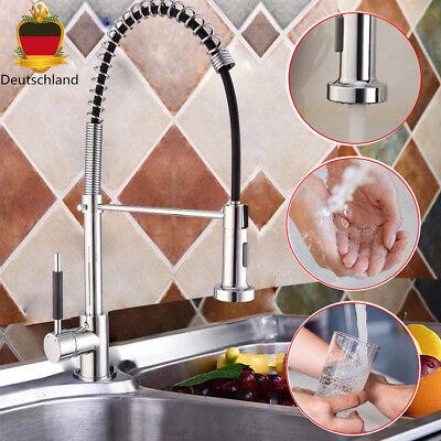 Einhebelmischer Spiralfeder Küchenarmatur Spültisch Brause 360° Wasserhahn Profi
