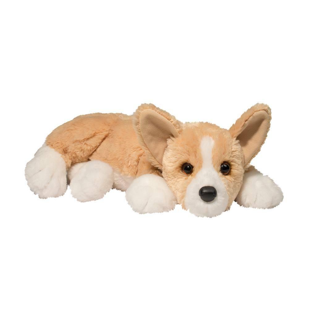 Douglas RUDY CORGI Plush Dog Lying Floppy Cuddle Toy Stuffed