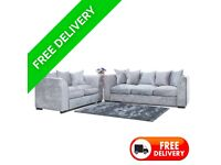 3+2 Dylan Crush Velvet Sofa with free delivery