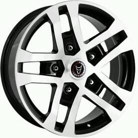 4*8x18 Wolfrace Ford Transit Alloy Wheels plus fittings Alloys