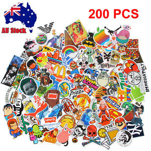 200pcs Travel Case Stickers Guitar pack decal sticker Random Vinyl Skateboard