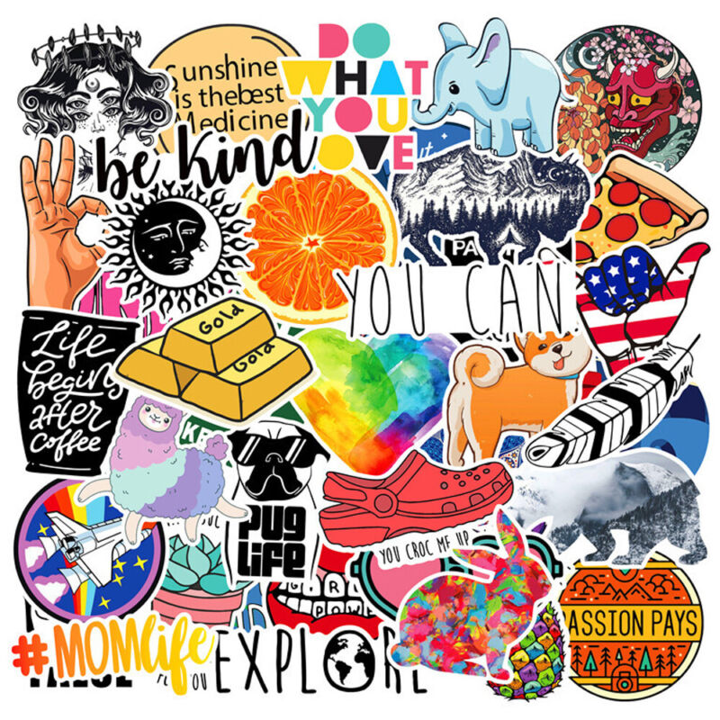 Lot 40 Random Vinyl Laptop Skateboard Stickers bomb Luggage Decals Dope Sticker