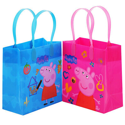12PCS Peppa Pig Goodie Party Favor Gift Birthday Loot Bags Licensed Small (Peppa Birthday)